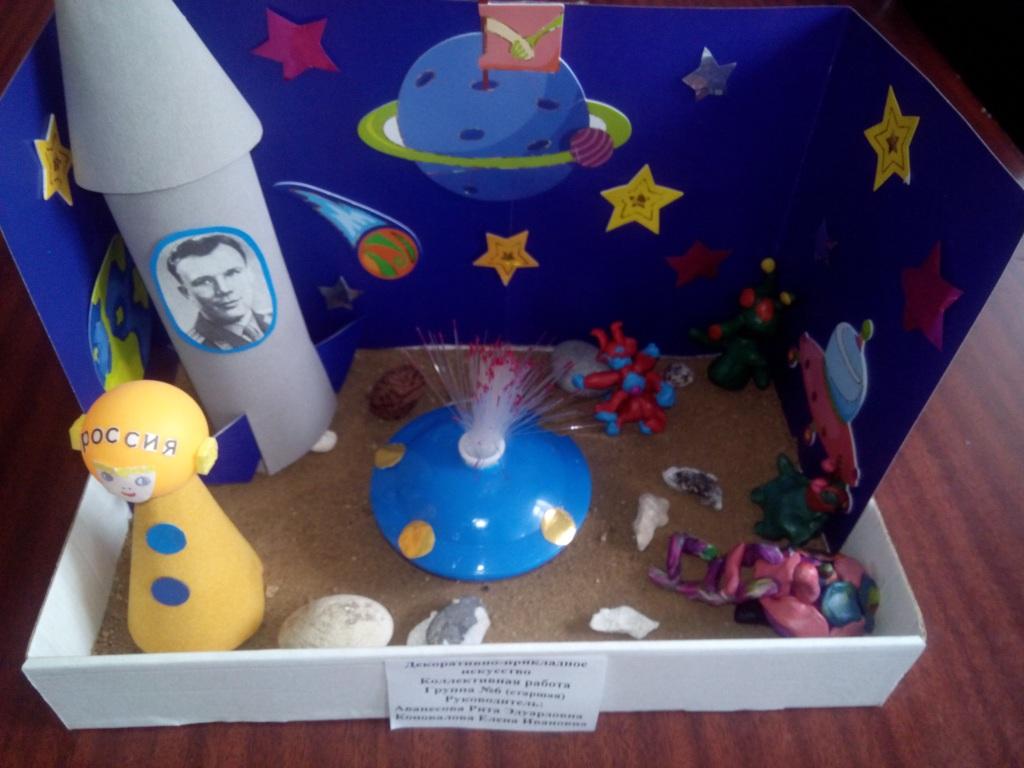 Поделка к дню космонавтики в детском